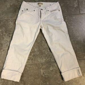Banana Republic white jean capris